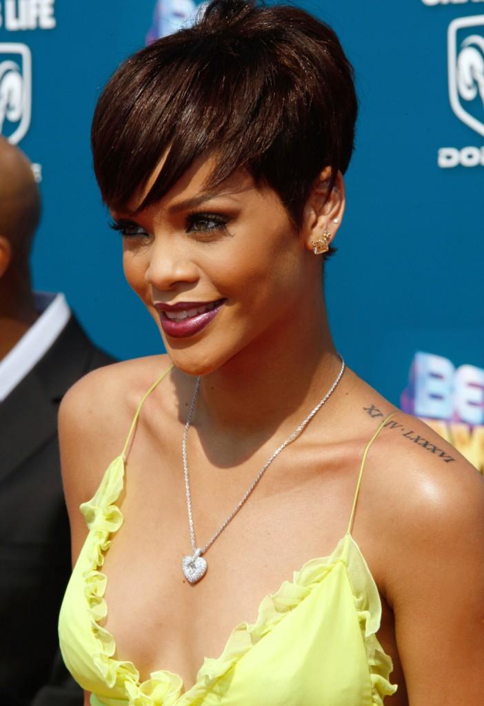 Rihanna Roman Numeral Tattoo