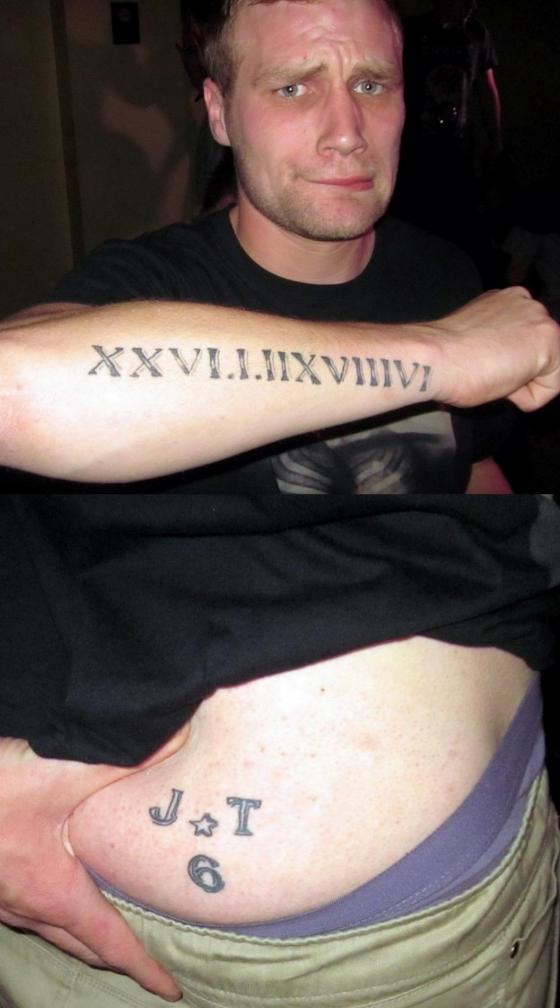 Roman Numerals Tattoo Fonts