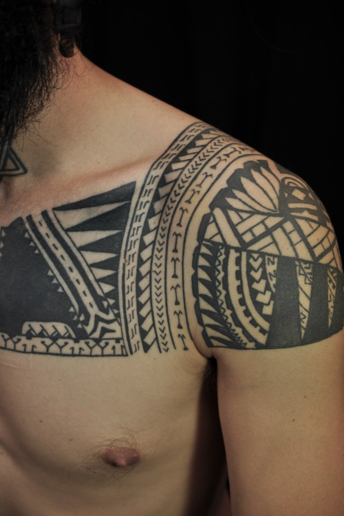 Samoan tattoos designs ideas and meaning tattoos for you for Polynesian chest tattoo