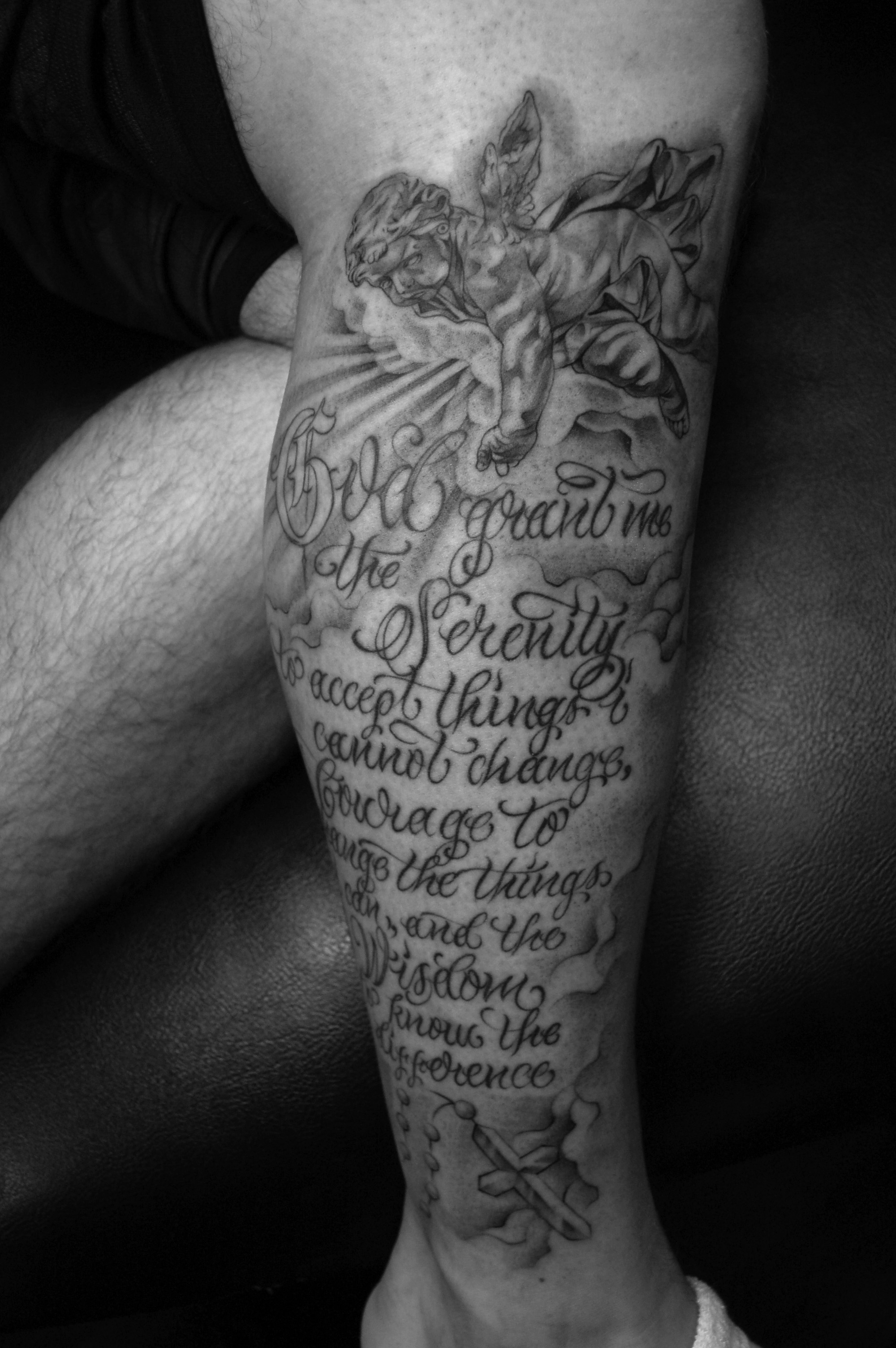 serenity prayer tattoos designs ideas and meaning tattoos for you. Black Bedroom Furniture Sets. Home Design Ideas