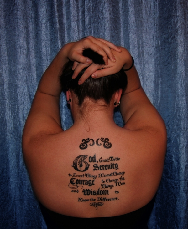 Serenity Prayer Tattoo For Girls