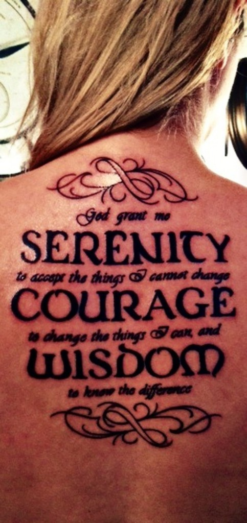 Serenity Prayer Tattoos Pictures