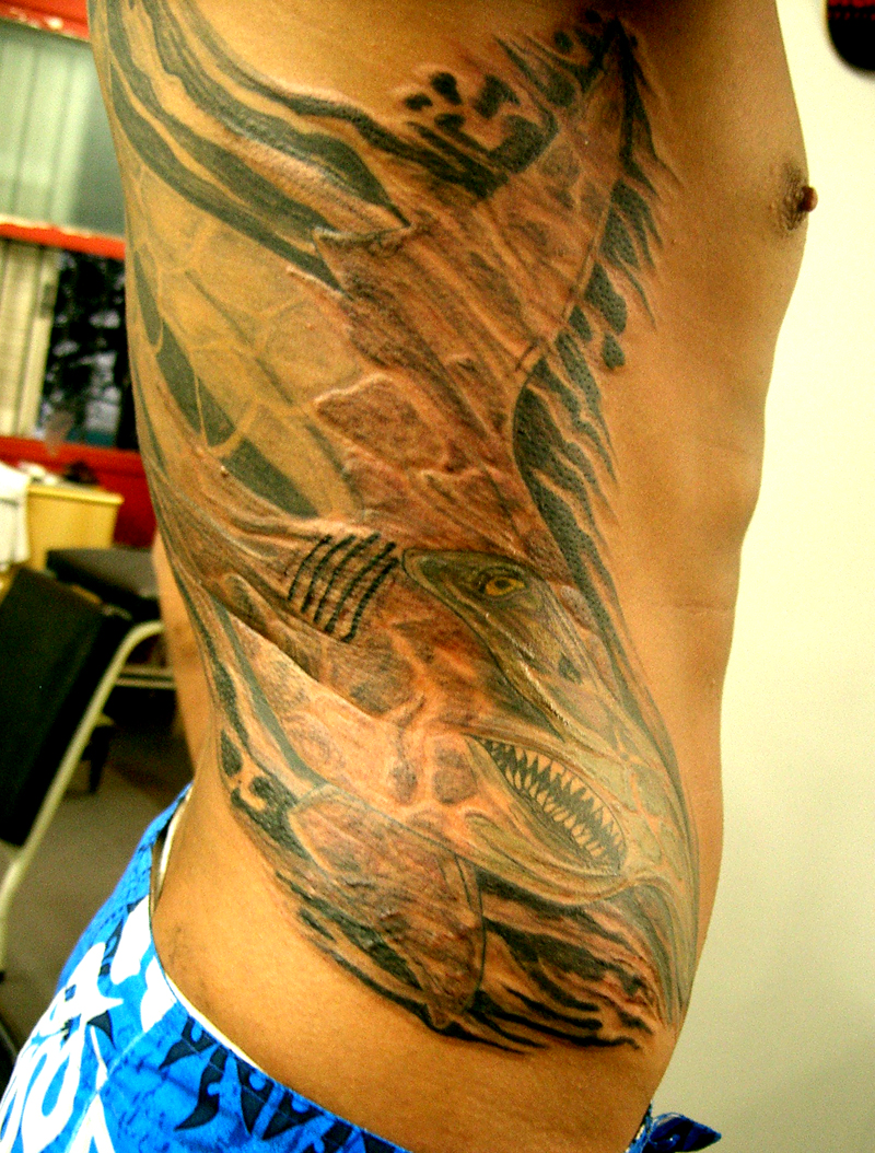 Traditional hammerhead shark tattoo - photo#28