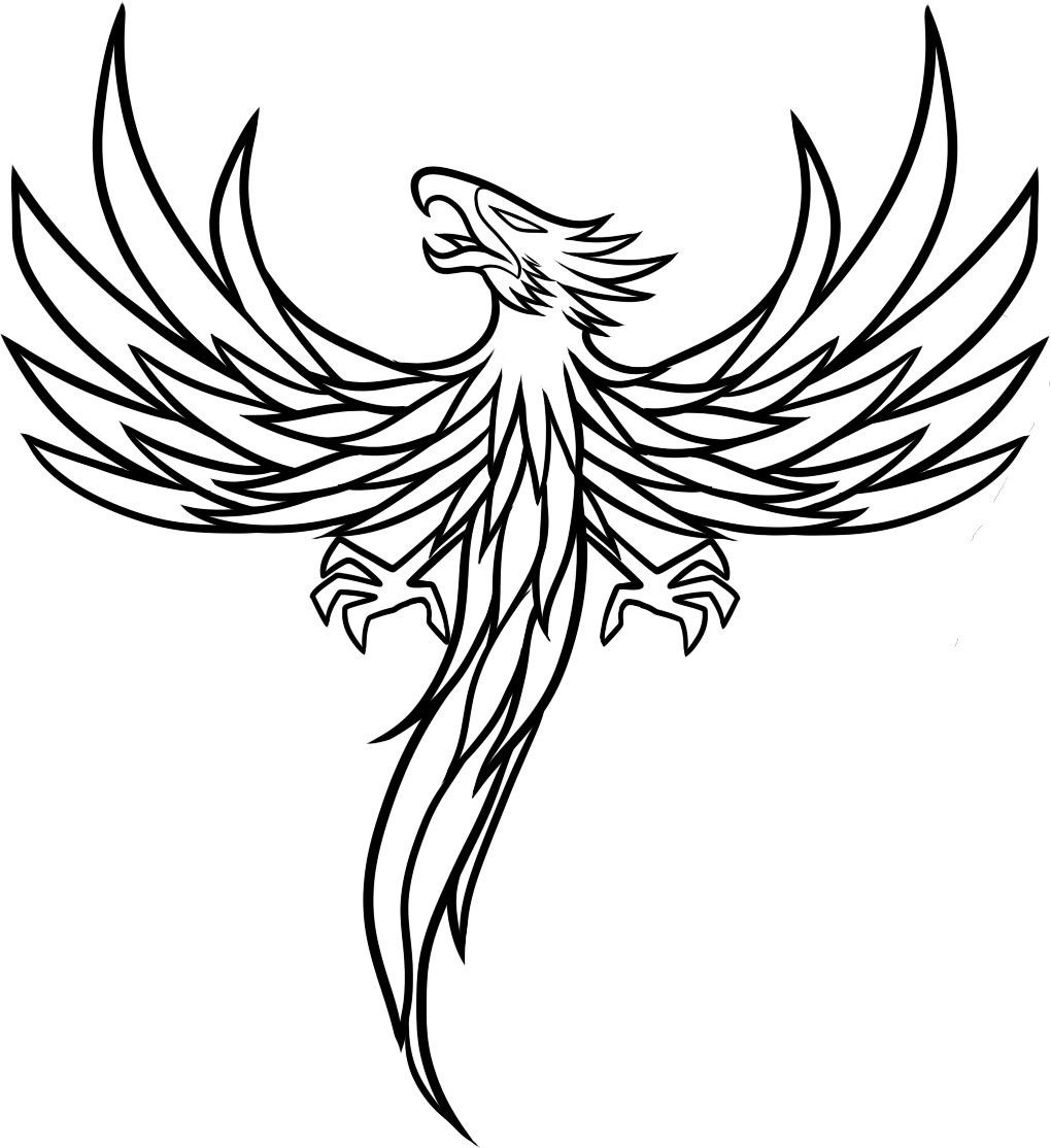 Phoenix Tattoo Coloring Pages Sketch Coloring Page