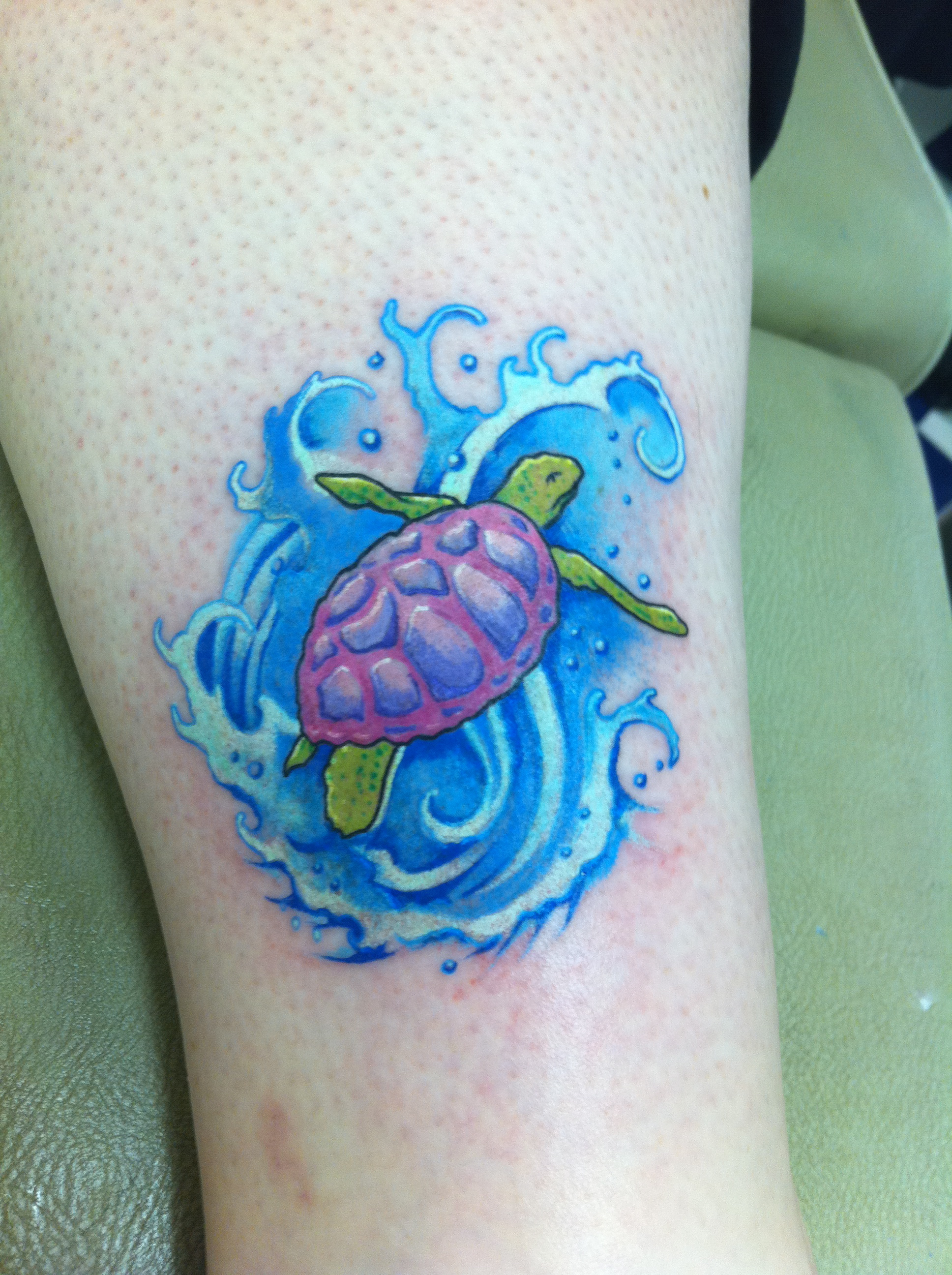 Turtle tattoos designs ideas and meaning tattoos for you for Small sea turtle tattoo