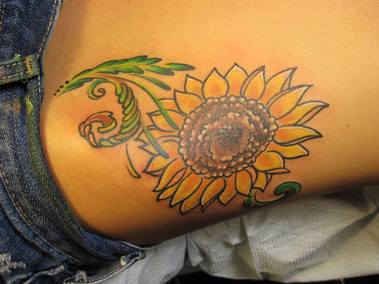sunflower tattoo ideas - HD 1260×945