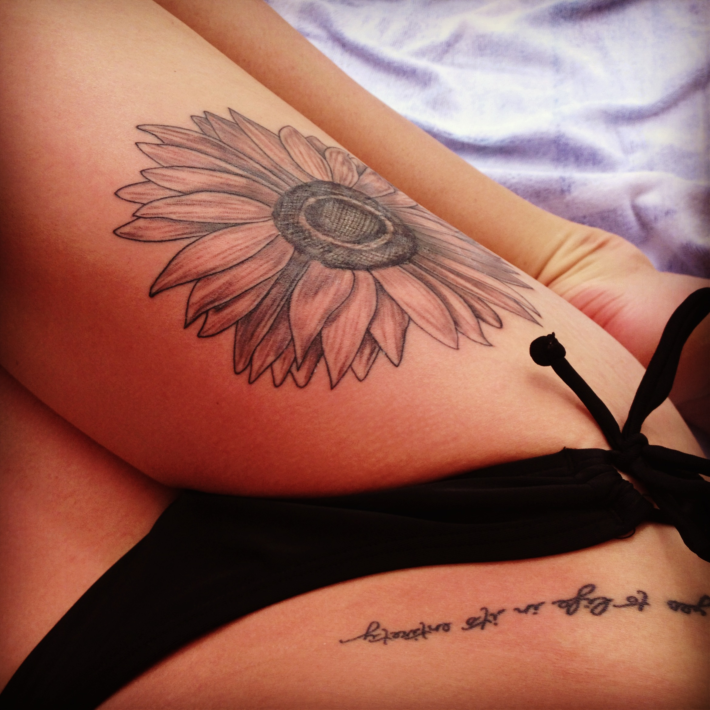 Sunflower Tattoo Designs Black White
