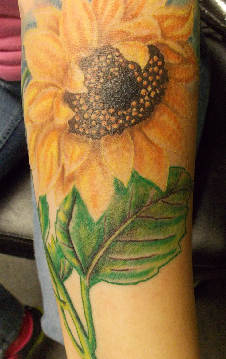 Sunflower tattoos designs ideas and meaning tattoos for you for Realistic sun tattoo