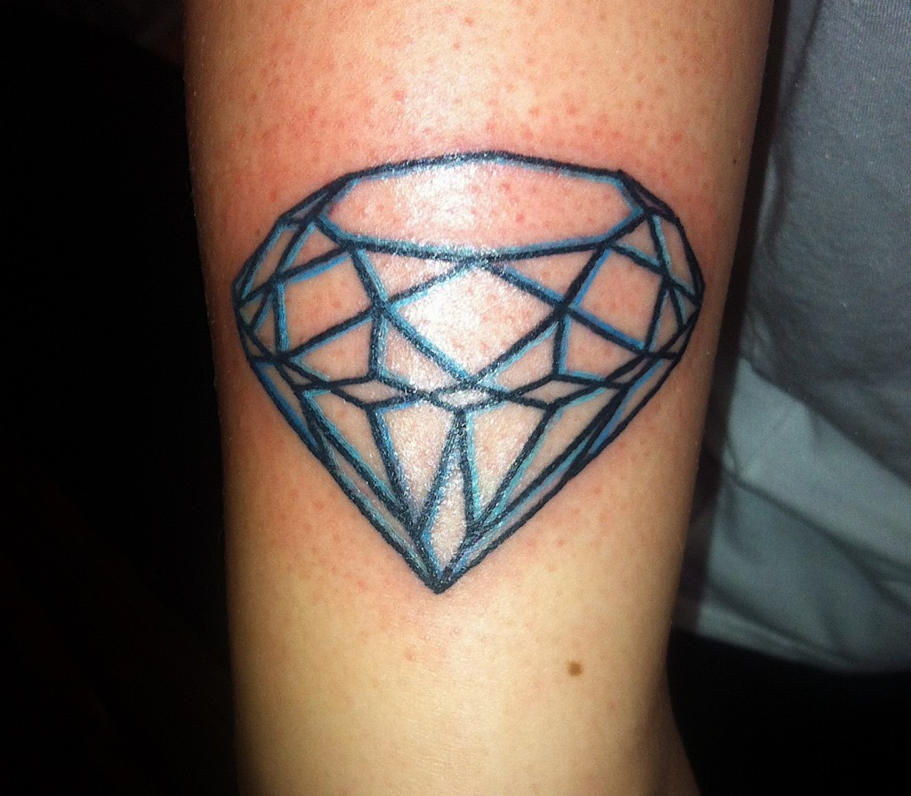 Traditional Diamond Tattoo Outline