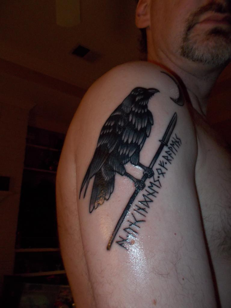 Raven tattoos designs ideas and meaning tattoos for you for Wheel of time tattoos