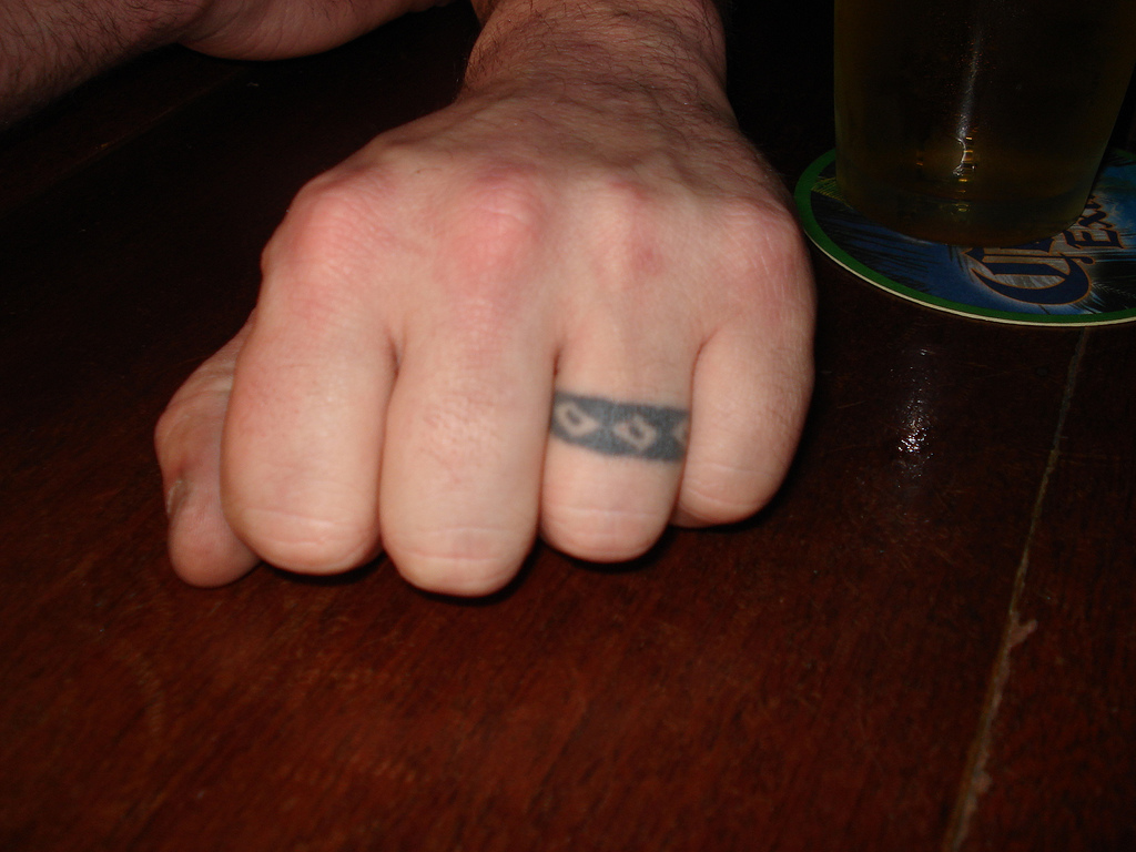 Pics Photos Tribal Cool Wedding Ring Tattoos