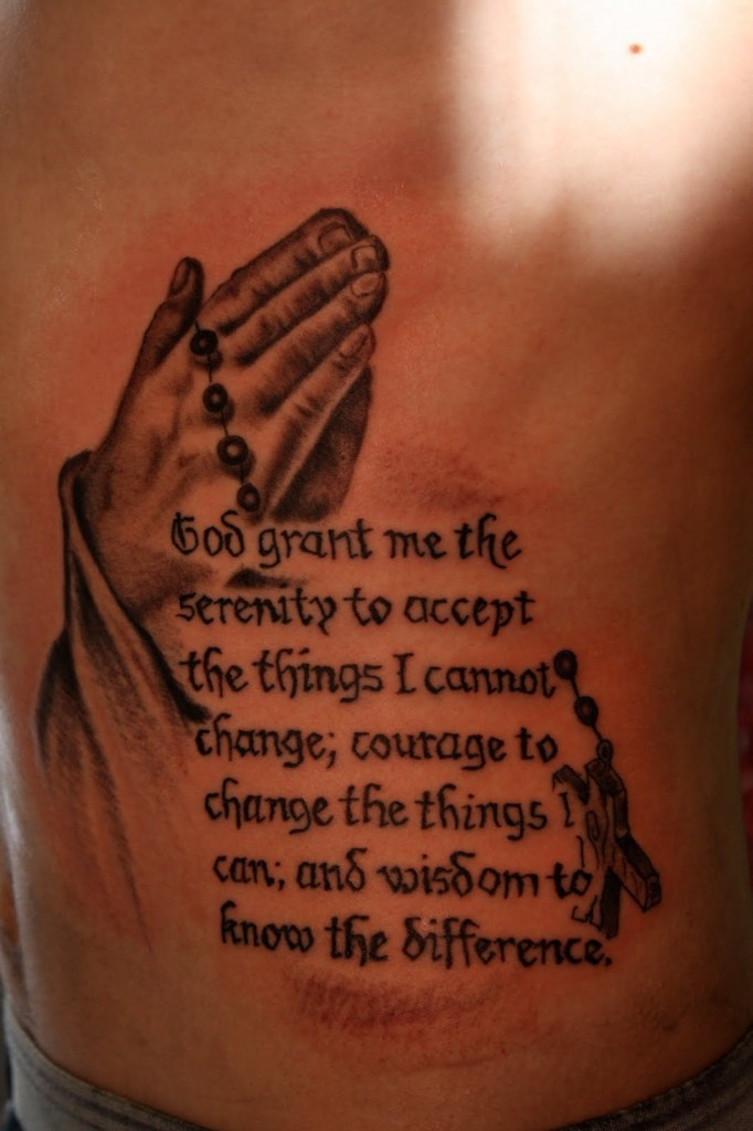 The Serenity Prayer Tattoo