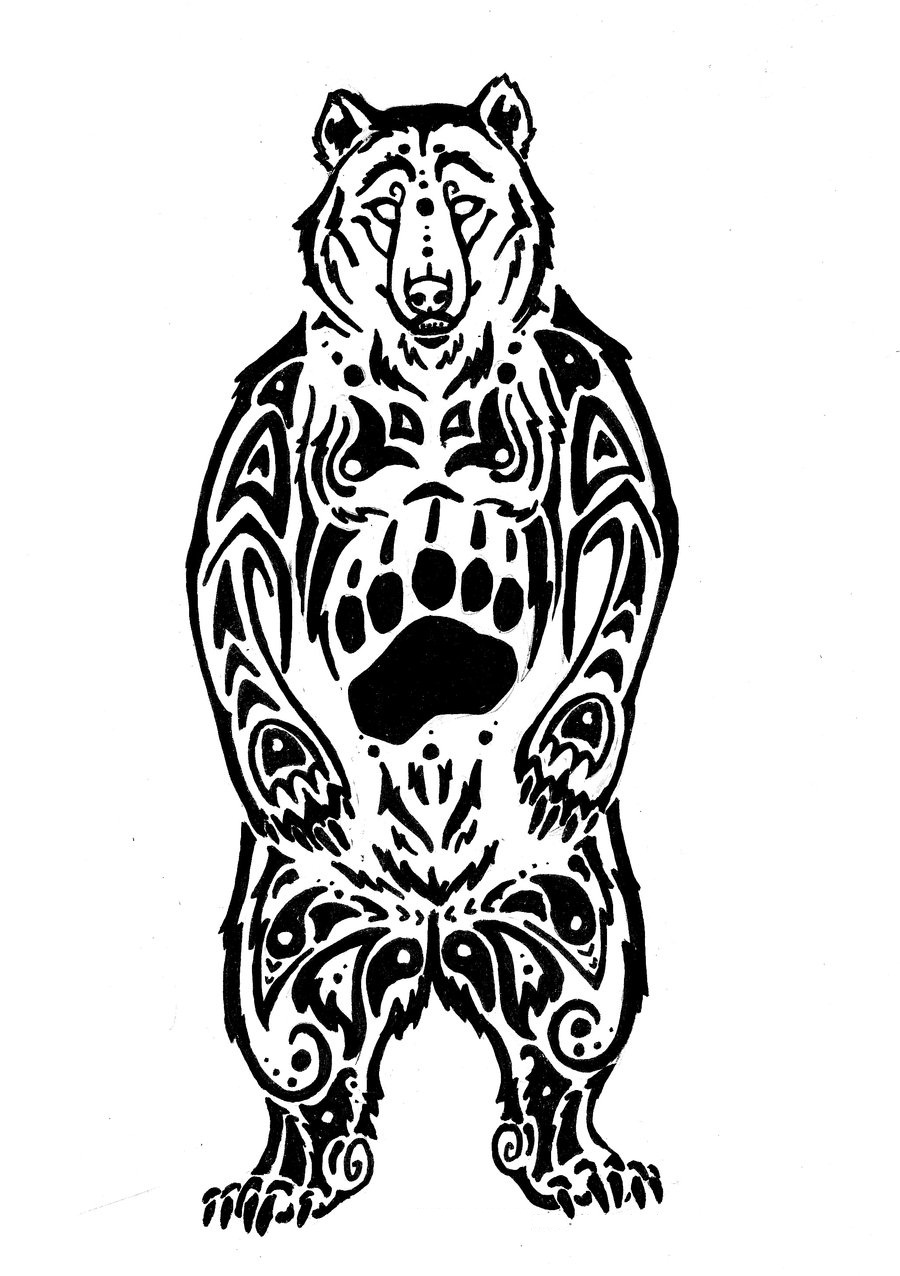 Tribal-Tattoos Tribal-Bear-Tattoo-Designs