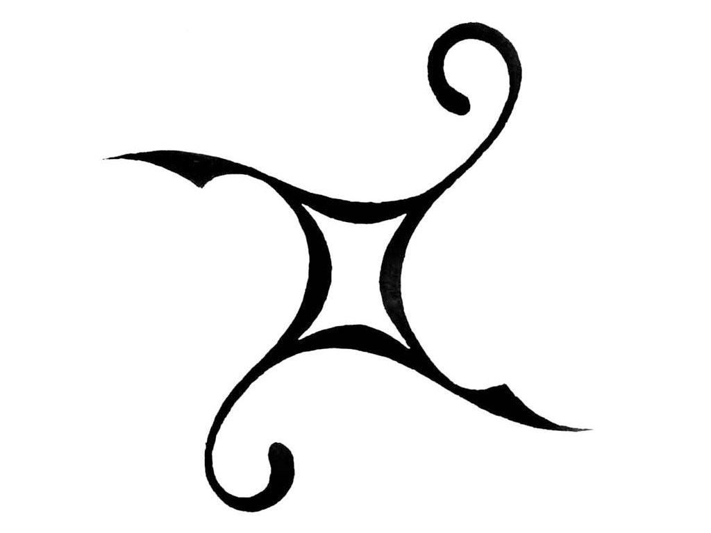 Sign tattoo designs - Tribal Gemini Tattoo Designs