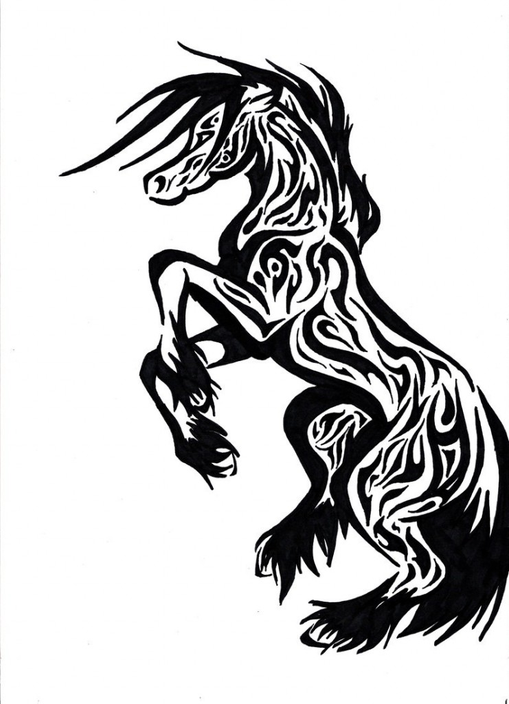 This is an image of Universal Tribal Horse Drawing
