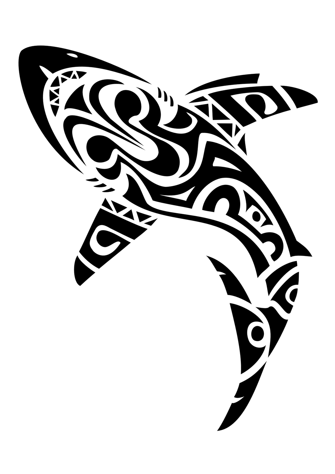 Tribal great white shark - photo#16
