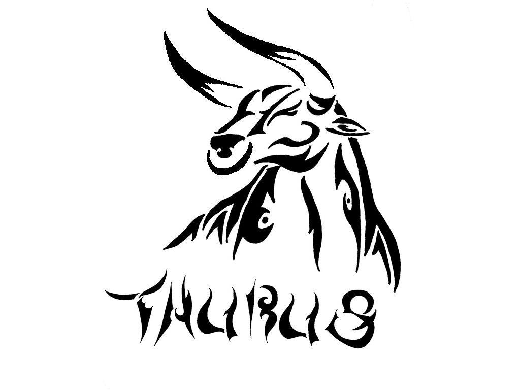 Simple Tribal Taurus Tattoo Designs