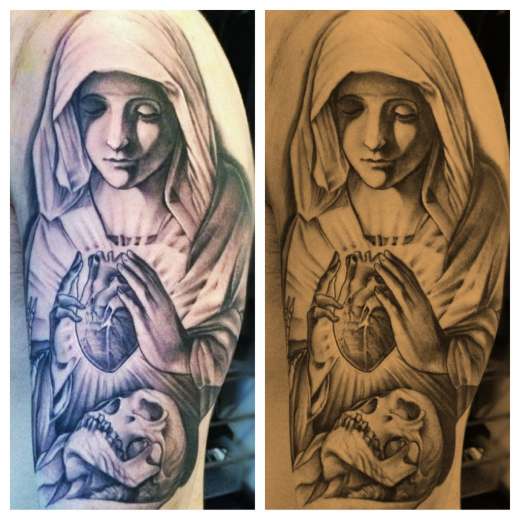 virgin mary tattoos designs ideas and meaning tattoos for you. Black Bedroom Furniture Sets. Home Design Ideas