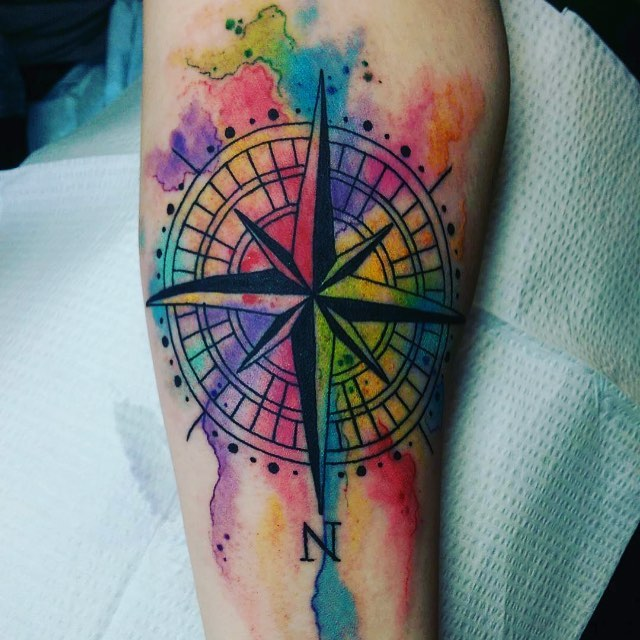 Compass Tattoos Designs, Ideas And Meaning