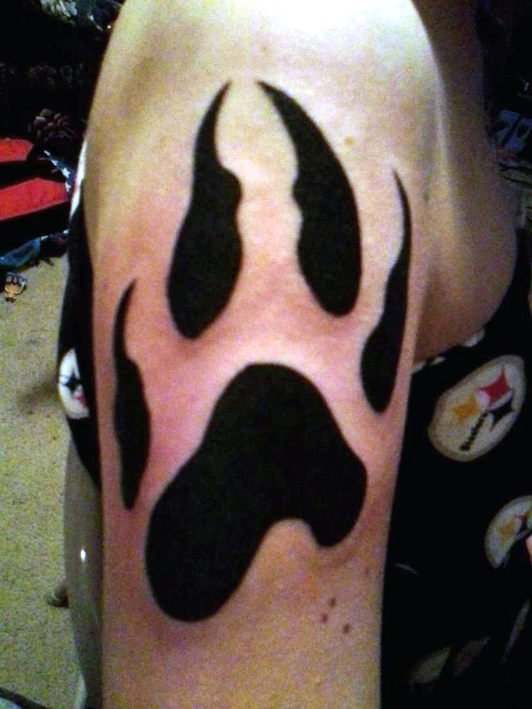 Wolf Paw Print Tattoo Designs