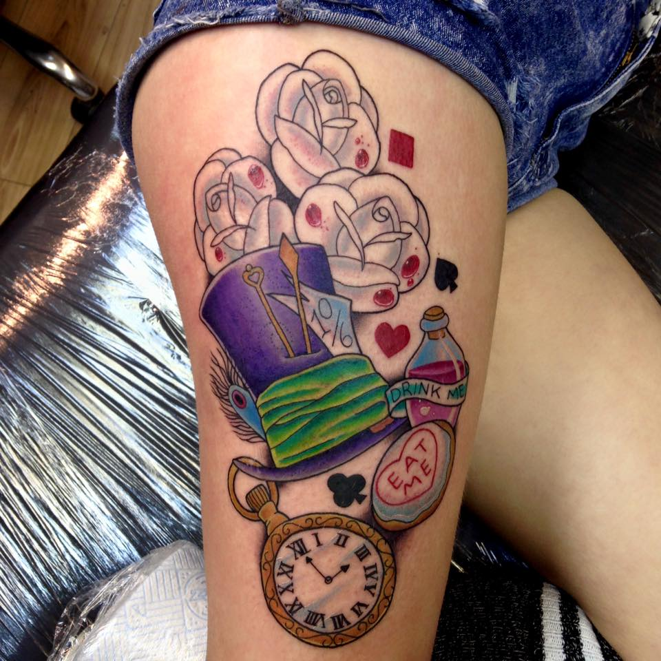 Alice In Wonderland Tattoos: Alice In Wonderland Tattoos Designs, Ideas And Meaning