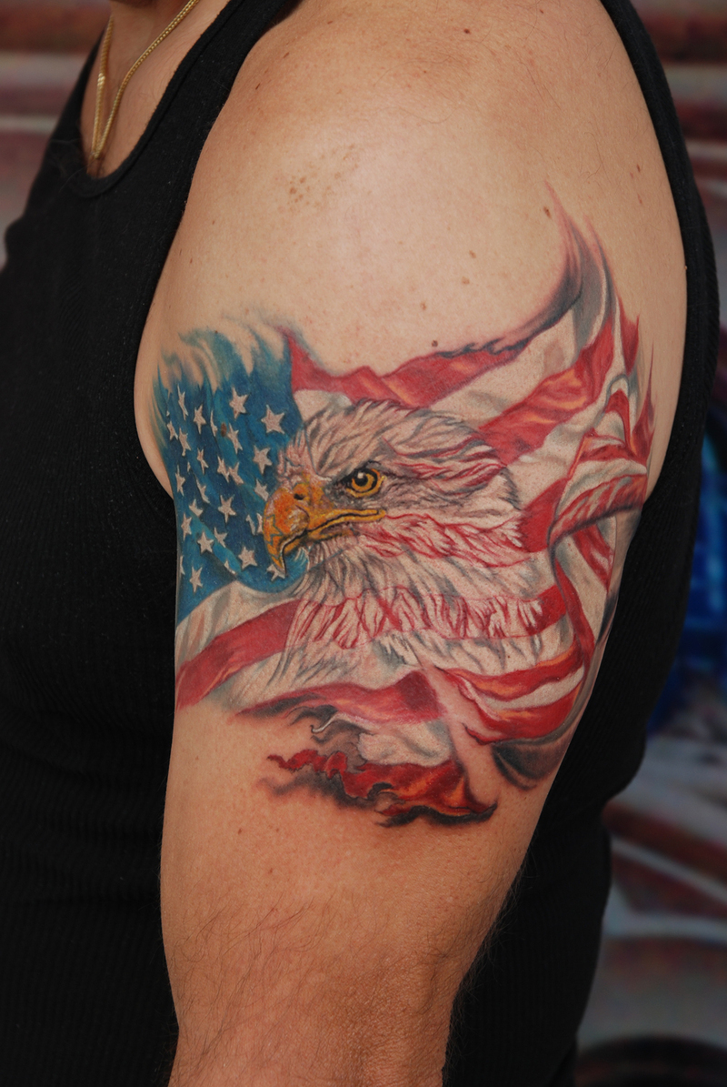 american flag tattoos designs ideas and meaning tattoos for you. Black Bedroom Furniture Sets. Home Design Ideas