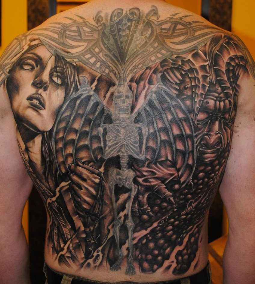 angels vs demons war tattoo - photo #38