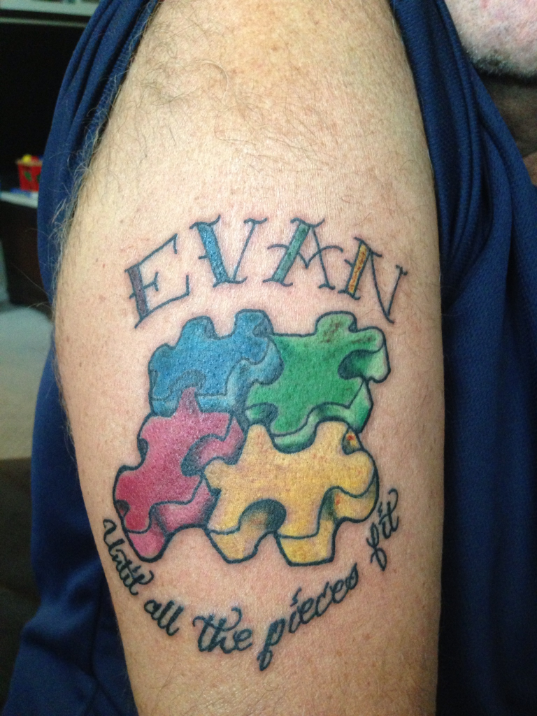 Autism tattoos designs ideas and meaning tattoos for you for Autism tattoos for dads