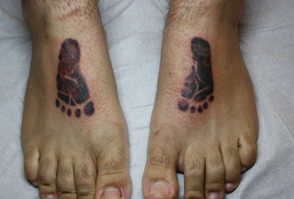 Baby Footprint Tattoos On Feet