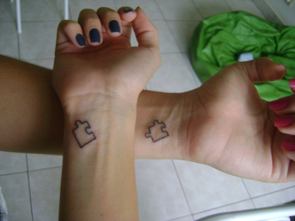 Best Friend Puzzle Piece Tattoos