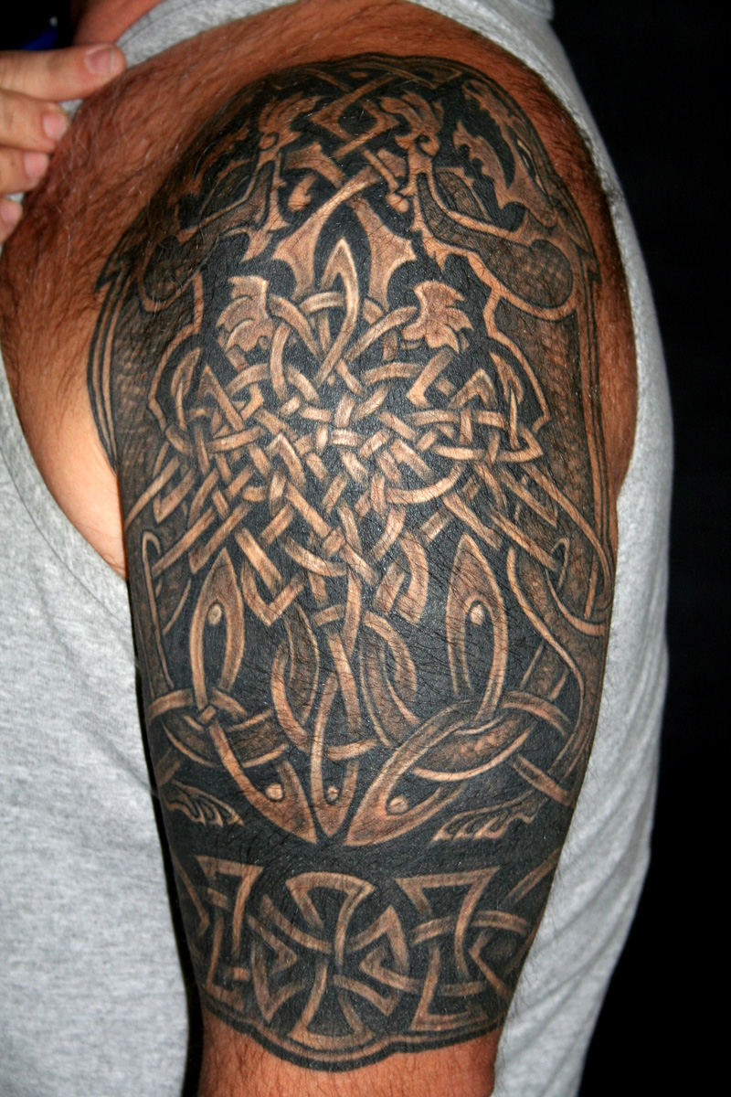 Celtic knot tattoos designs ideas and meaning tattoos for Ideas for half sleeve tattoos for men