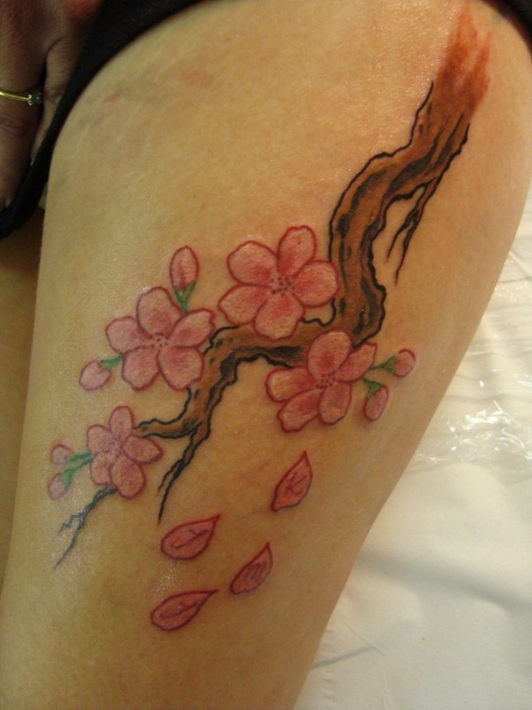 Cherry Blossom Tattoos For Women