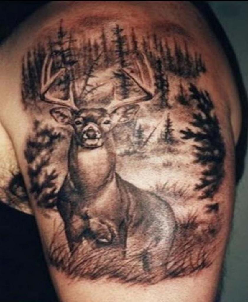 deer antler tattoos - photo #24