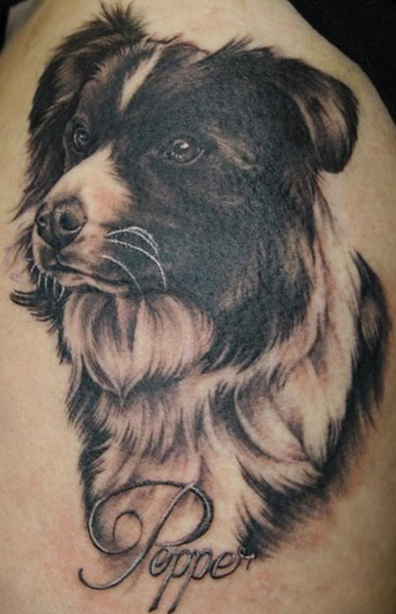 dog tattoos designs ideas and meaning tattoos for you. Black Bedroom Furniture Sets. Home Design Ideas