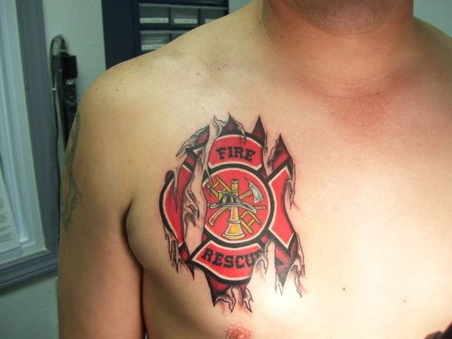 Firefighter Tattoos Designs, Ideas And Meaning