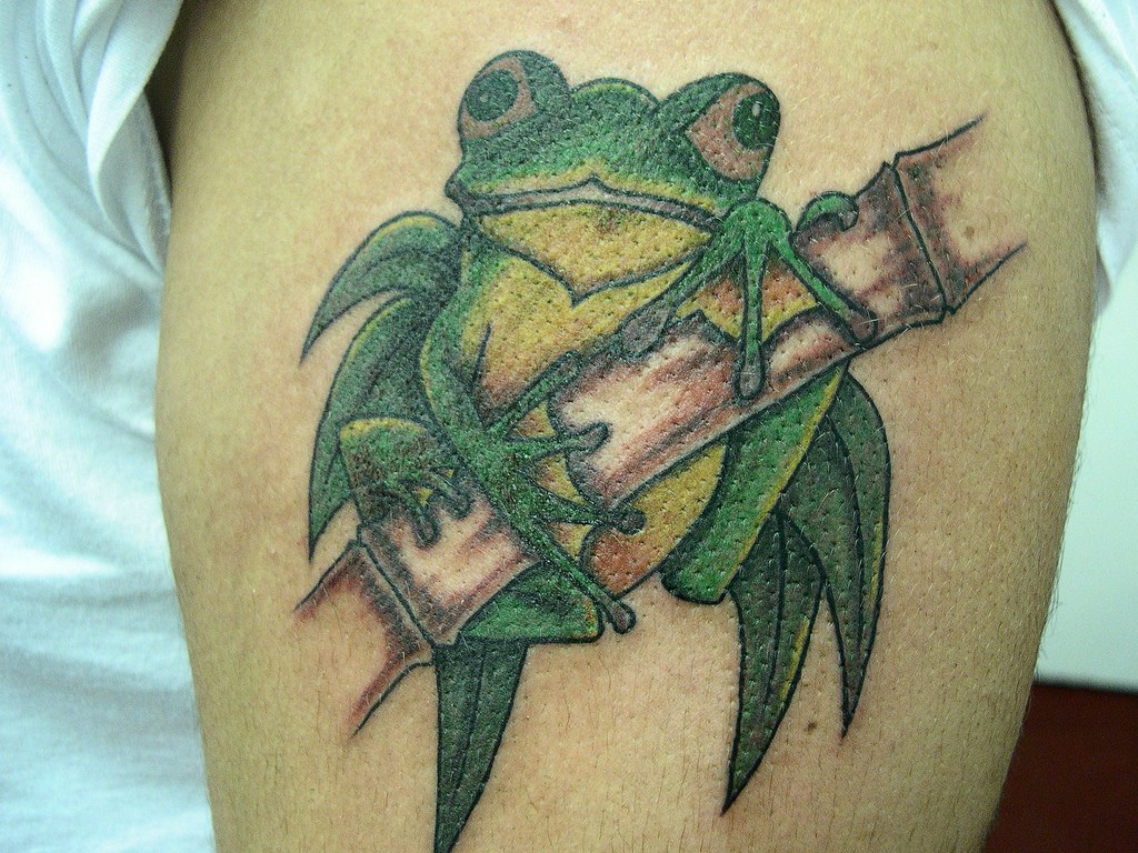frog tattoos designs ideas and meaning tattoos for you. Black Bedroom Furniture Sets. Home Design Ideas