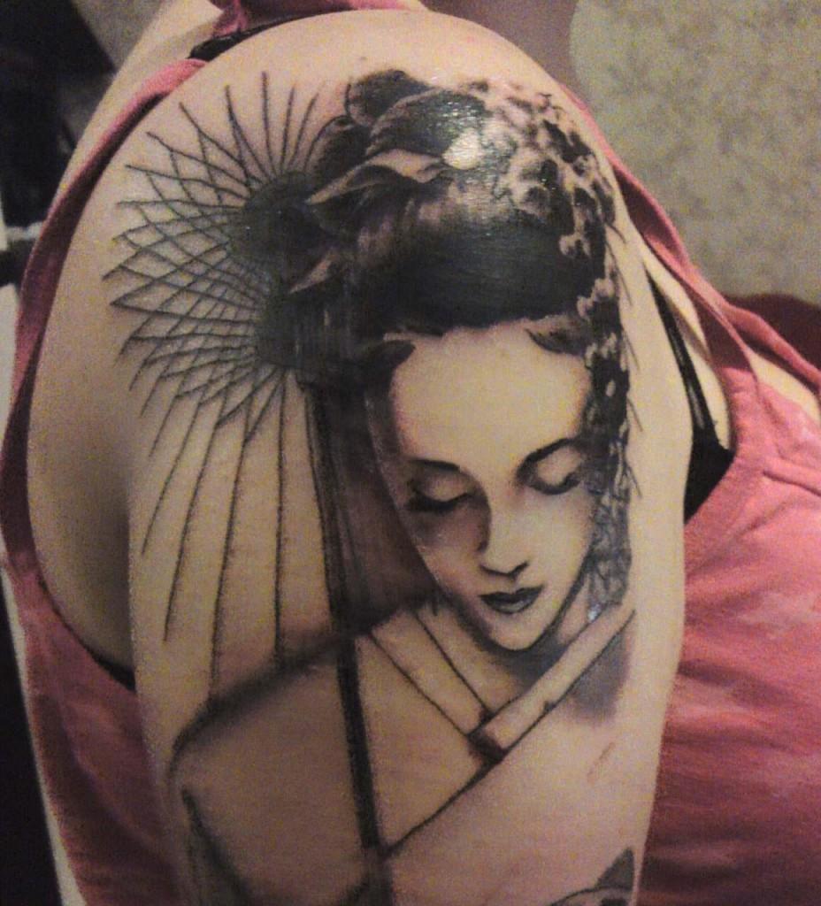 Geisha Girl Tattoo Designs