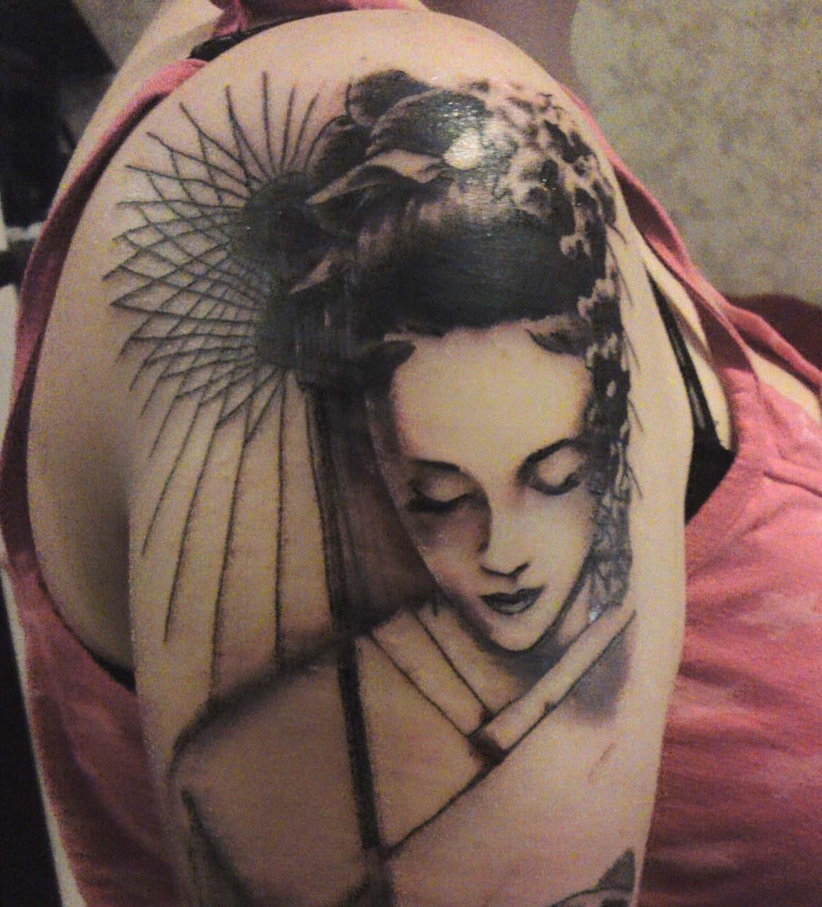 Geisha tattoos designs ideas and meaning tattoos for you for Japanese tattoo