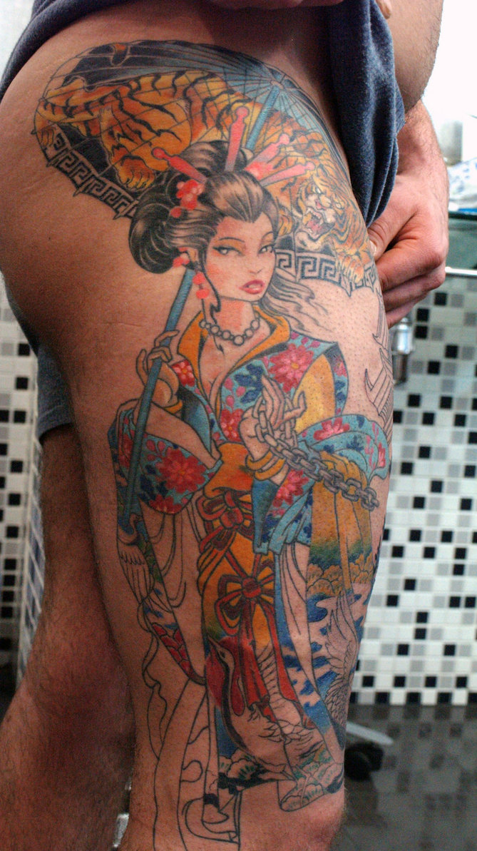 Geisha tattoos designs ideas and meaning tattoos for you for 11 11 tattoo