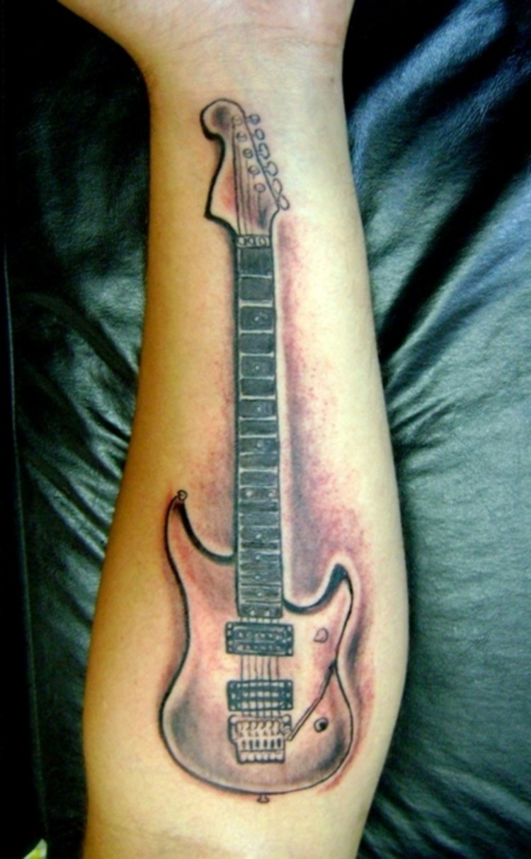 Guitar Tattoos Designs  Ideas and MeaningAcoustic Guitar Drawing Tattoo
