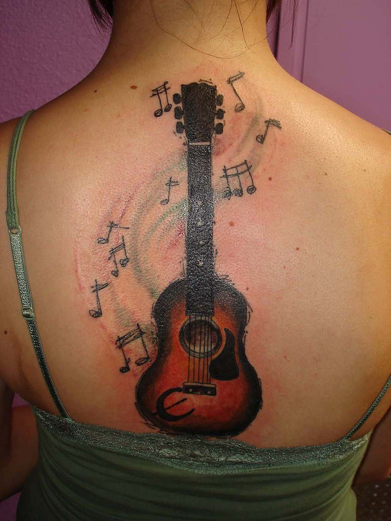 guitar tattoos designs ideas and meaning tattoos for you. Black Bedroom Furniture Sets. Home Design Ideas