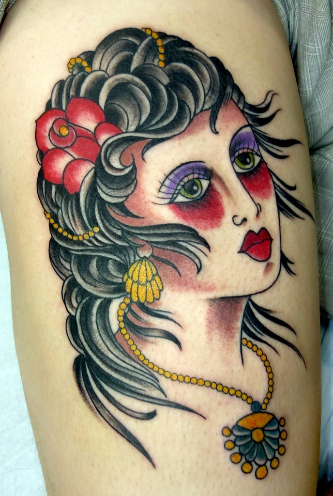Gypsy Head Tattoo