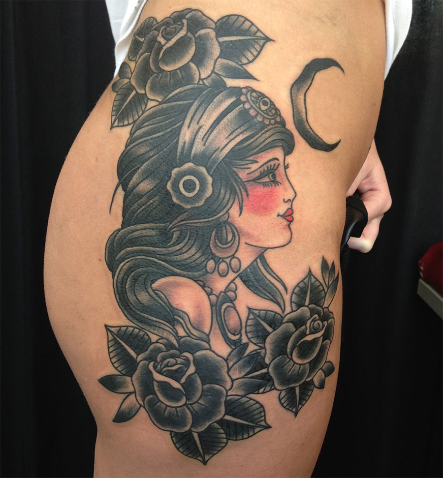 Tattoo Woman Photo: Gypsy Tattoos Designs, Ideas And Meaning