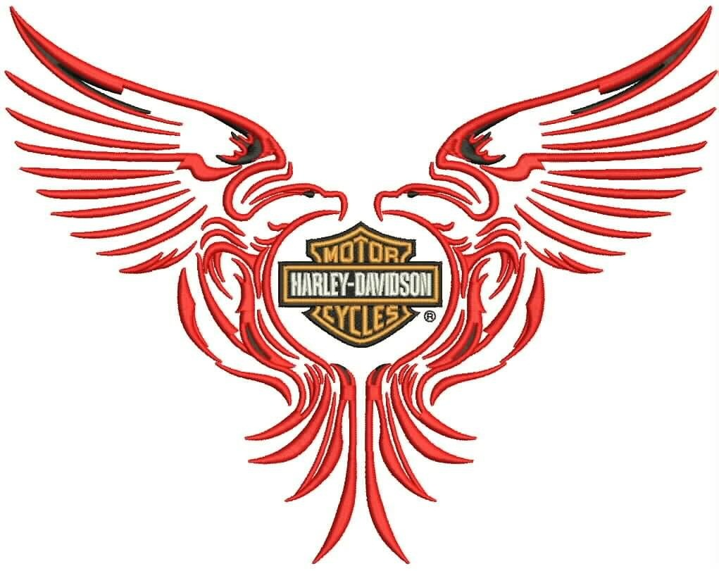 Pink Harley Davidson Logo With Wings