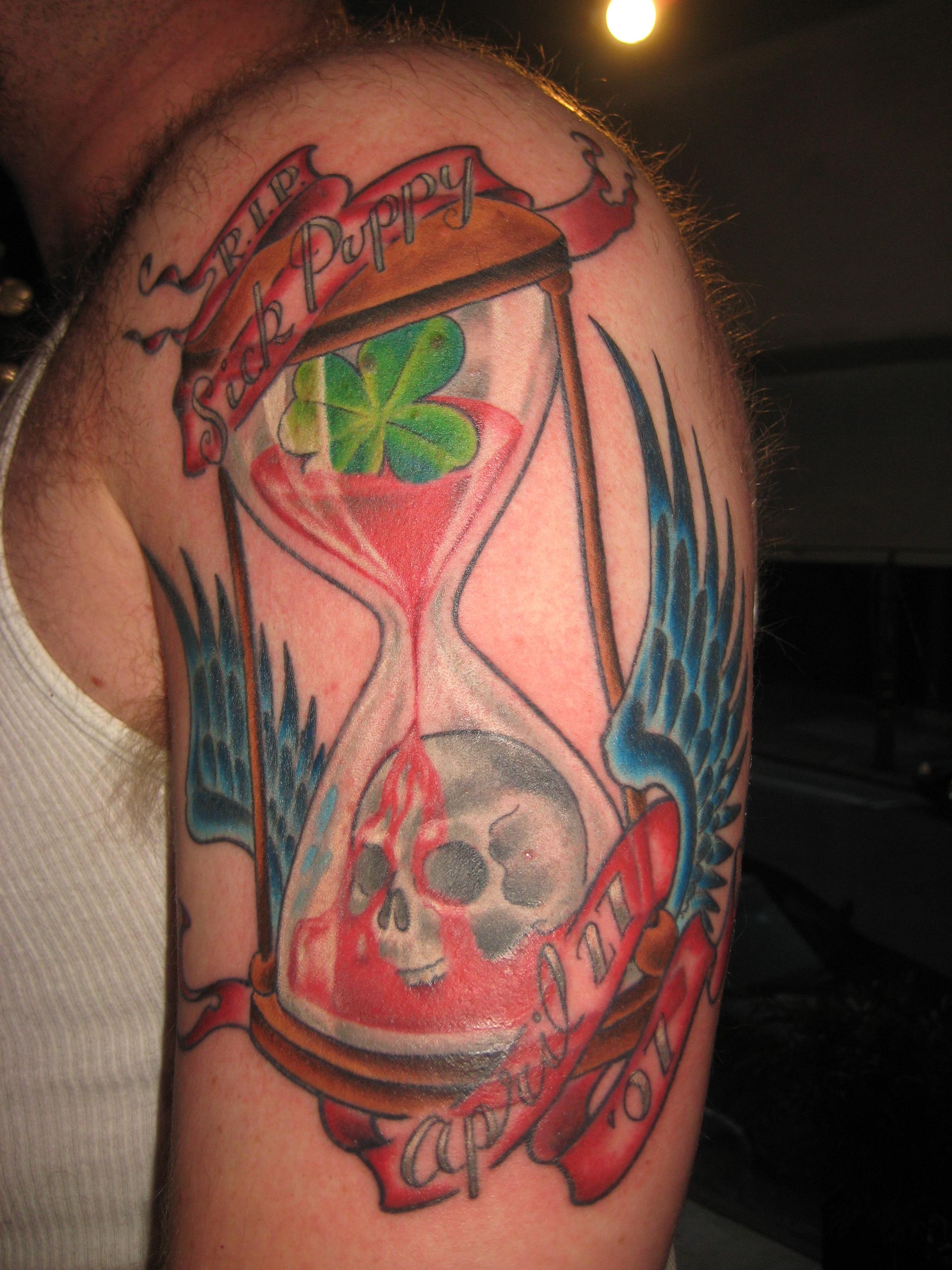 Broken Heart Tattoo For Men Hourglass Tattoos Desi...