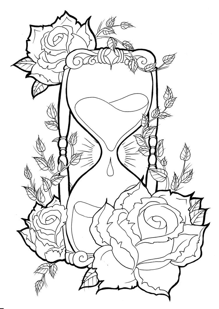 Hourglass tattoos designs ideas and meaning tattoos for you for Drawing design ideas