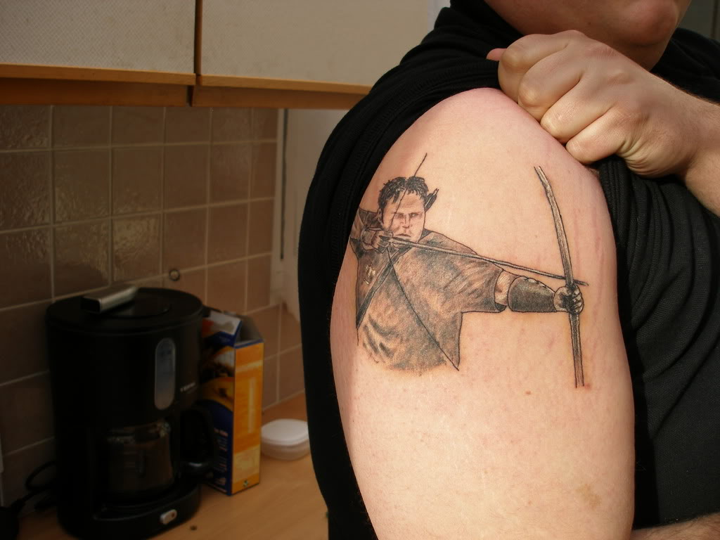 Pin archery hunting tattoos on pinterest for Archery tattoo pictures