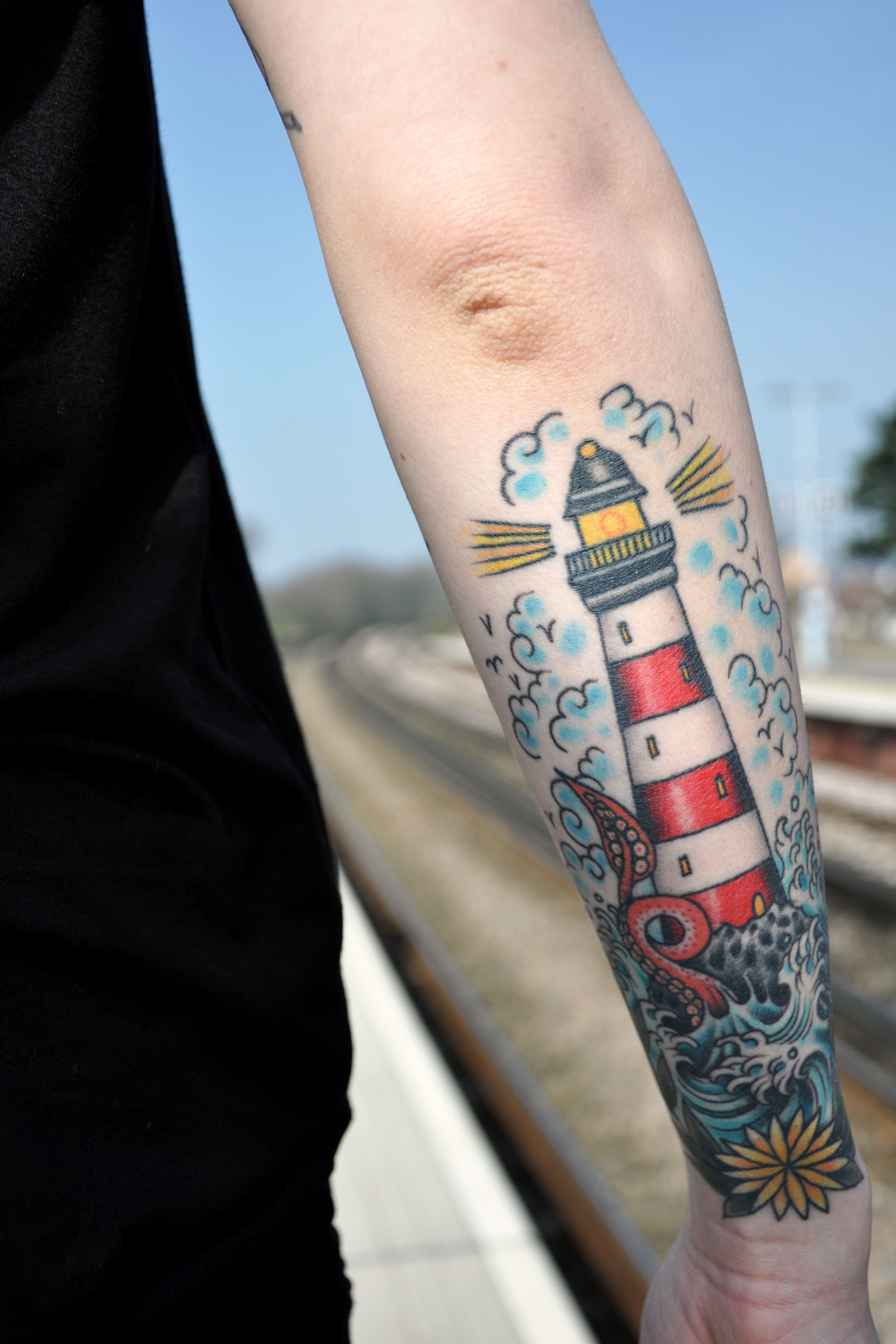 Lighthouse tattoos designs ideas and meaning tattoos for Best old school house