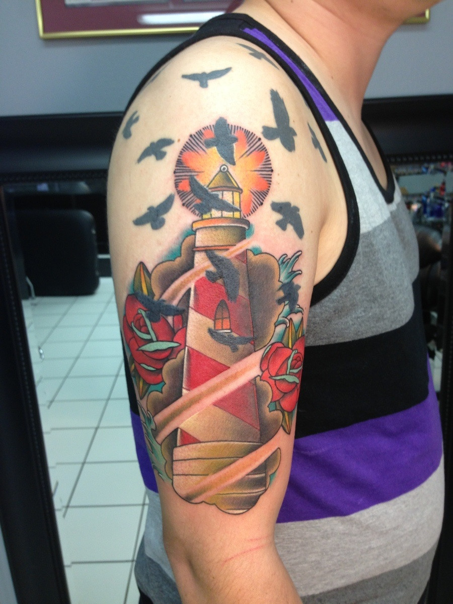 Lighthouse tattoos designs ideas and meaning tattoos for Tattoo pitture