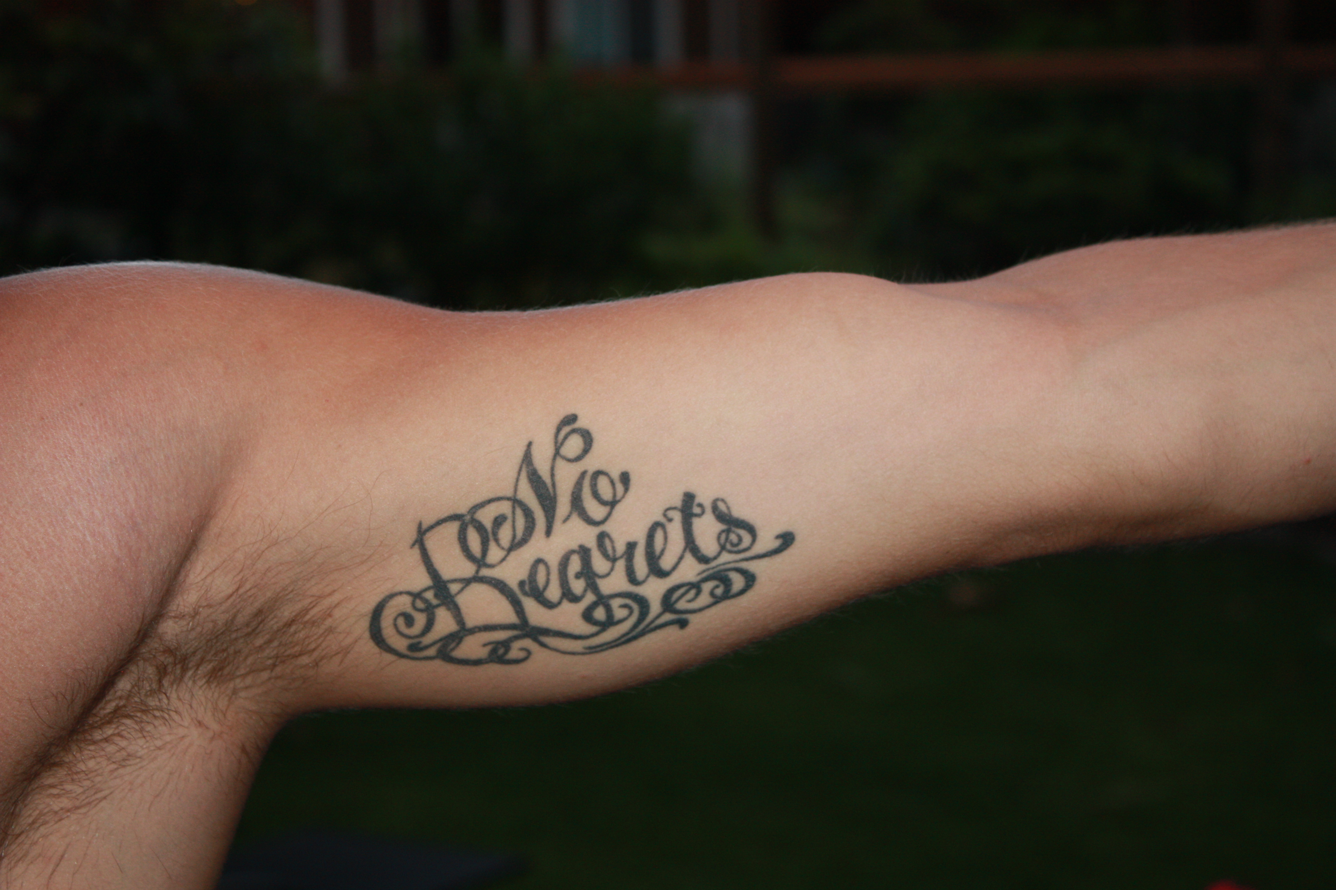 No Regrets Tattoos Designs, Ideas and Meaning | Tattoos For You